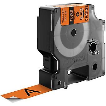 Labelling tape DYMO IND RHINO 18436 Vinyl Tape colour: Orange Font colour:Black 19 mm 5.5 m
