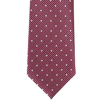 Michelsons of London Puppy Tooth Spot Polyester Tie - Pink