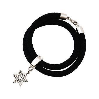 Gemshine - Panie - bransoletka - bransoletka - srebro 925 - śnieżynka - czarny