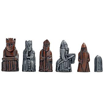 Berkeley Chess Isle of Lewis Second Edition Metallic Chess Men