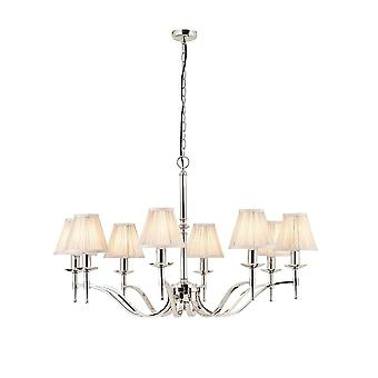 Interiors 1900 Stanford Polished Nickel Chandelier, 8 Light