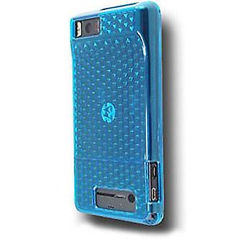 OEM Verizon Motorola Droid X MB810 High Gloss Silicone Case (Blue) (Bulk Packagi