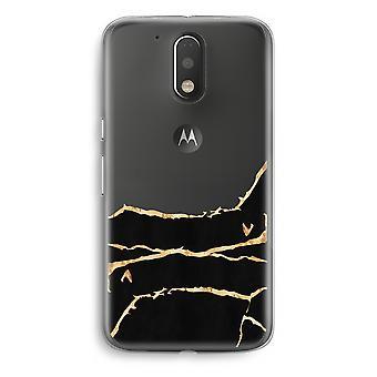 Motorola Moto G4/G4 Plus Transparent Case - Gold marble