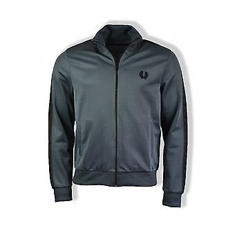 Fred Perry Tonal gravou Track Jacket (cinza chumbo)