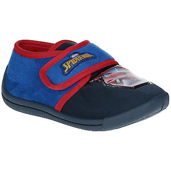Leomil Boys Spiderman Soft Touch Micro Fibre Velour Slippers