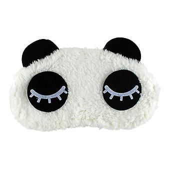 Turning a Panda, Fluffy sleep mask for travel and relaxation