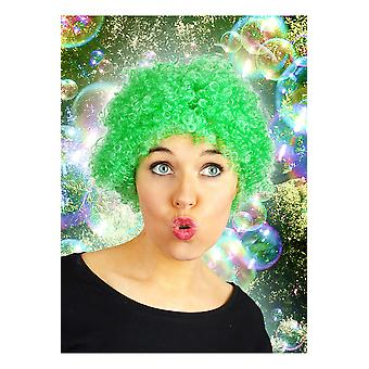 Peluca rizada corta pelucas verde