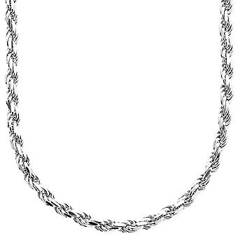 Sterling 925 Silver bling cord chain - ROPE DC 4 mm