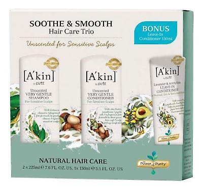 A'kin Soothe & Smooth Hair Care Trio