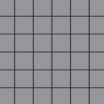 Mosaico de metal sólido Acero inoxidable ALLOY Cinquanta-S-S-MA