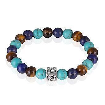 Skipper stone bracelets elastic colored beads bracelet 7776
