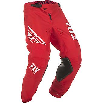 Fly Racing Red-White 2019 Kinetic Shield Kids MX Pant