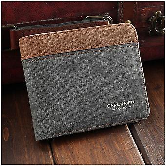 GENUINE PU Leather Wallet Brown Beige Grey White Credit Card Money Purse Cash Slot