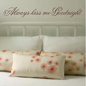 Goodnight wall art sticker quote