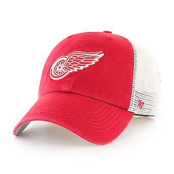 47 brand avslappnad-fit Cap - närmare Detroit Red Wings Red