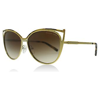 Michael Kors MK1020 116313 Tokio Tortoise/Gold-Ton Medina Tokio Katzen Augen Sonnenbrillen Objektiv Kategorie 2 Größe 56mm