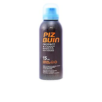Piz Buin Protect And Cool Sun Mousse Spf15 150ml Unisex New Sealed Boxed