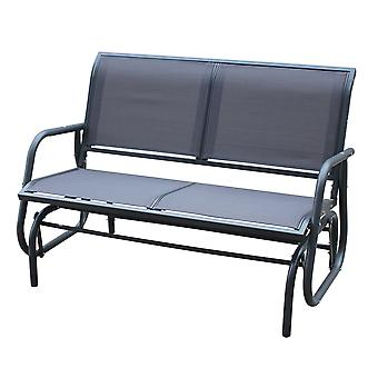 Charles Bentley Steel 2 Seater Rocking Bench - Grey