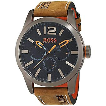 Hugo Boss Orange mens quartz watch 1513240, multi display dial and leather strap