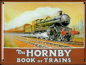 Hornby Book Of Trains (no date) metal postcard / mini sign / fridge magnet