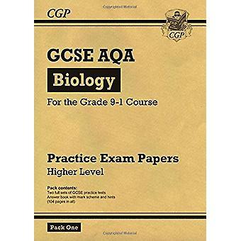 Neue Klasse 9-1 GCSE Biologie AQA Praxis Papers - höhere Pack 1 von CGP