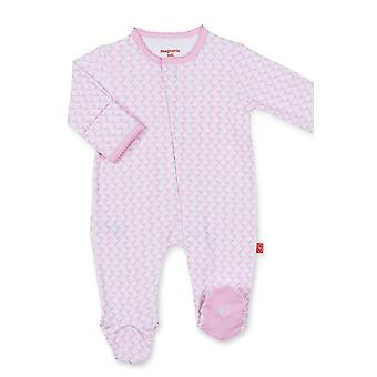 Magnificent Baby Magnetic Me™ Cotton Baby Girl Footie