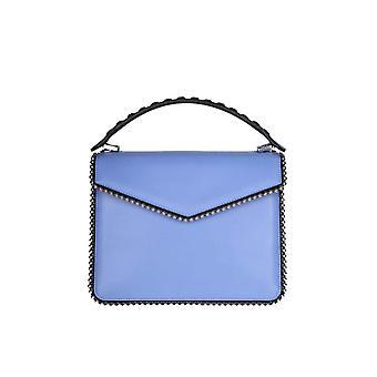 Les Petits Joueurs Licht blau Lederhandtasche