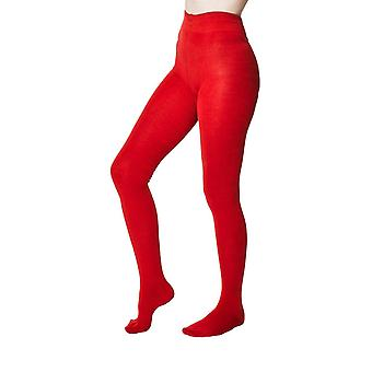 Elgin women's super-soft warm bamboo tights in fox red |  By Thought