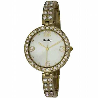 Henley Glamour mince montre Bling Diamante cristaux