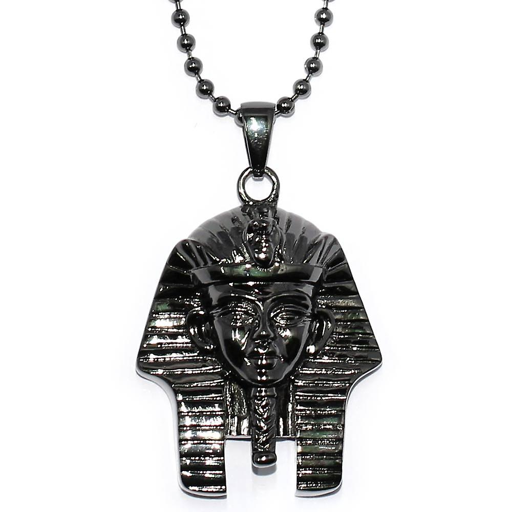 Black King Tut Piece with 30 inch Ball Chain Necklace