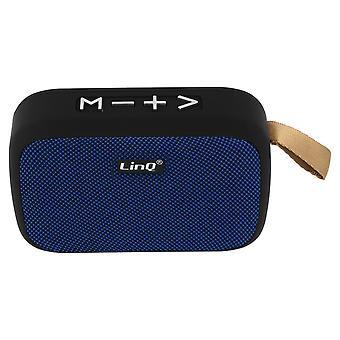 LinQ trådløs Bluetooth-høyttaler 4,2 USB mikro-USB-kort FM-radio blå