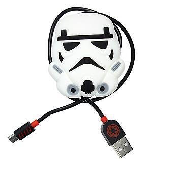Star Wars: cable de carga del controlador Storm Trooper con cable ordenado (PS4)