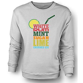 Mens Sweatshirt Mojito Cocktail - Cool