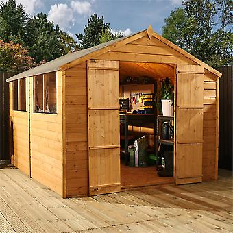 Mercia 10x8ft Shiplap Traditional Apex Wooden Shed