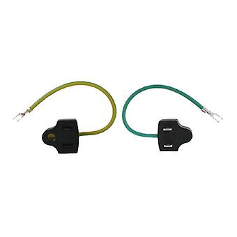 US 3 Pin To US 2 Pin With GND Plug Adapter