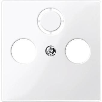 Merten Cover SAT sokkel system M, 1-M, M-smart, M-plan, M-Creativ Polar hvid blank 296719