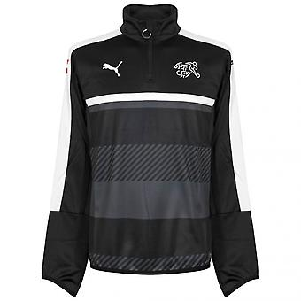 2016-2017 Switzerland Puma Quarter Zip Training Top (Black)