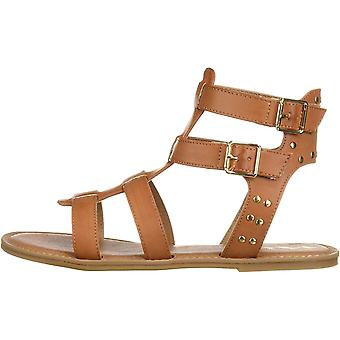 NINA Girls' brunilda Sandal, tan, 1 Medium US Little Kid
