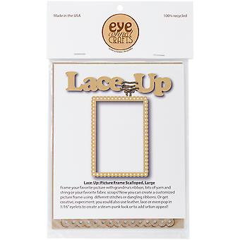 EyeConnect Chipboard Lace-Up-Picture Frame, 4