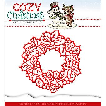 Find It Trading Yvonne Creations Cozy Christmas Die-Wreath YCD10035