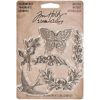 Idea Ology Metal Adornments 6 Pkg Nature Th93128