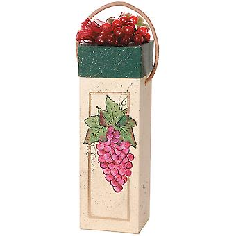 Paper Mache Square Wine Box 4.25