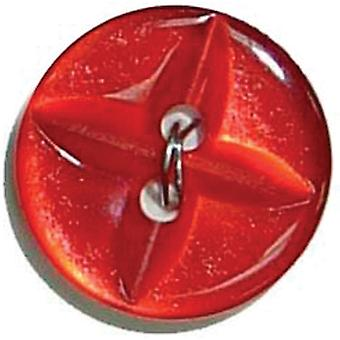 Slimline Buttons Series 1 Red 2 Hole 5 8