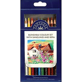 Pro Art Fantasia crayons 10 Pkg Blendable couleur Pa110602 060