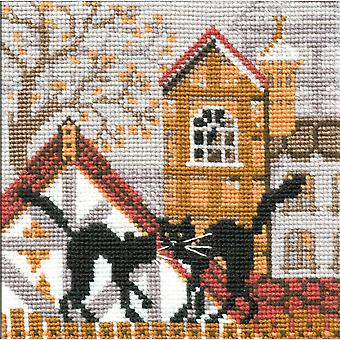 City & Cats Autumn Counted Cross Stitch Kit 5