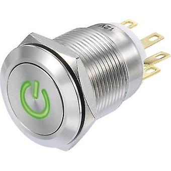 Pushbutton 250 Vac 3 A 1 x On/(On) Conrad Components LAS1-GQF-11/G/12V IP65 momentary 1 pc(s)