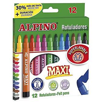 Alpino 12 Alpine Maxi Markers (Toys , School Zone , Drawing And Color)