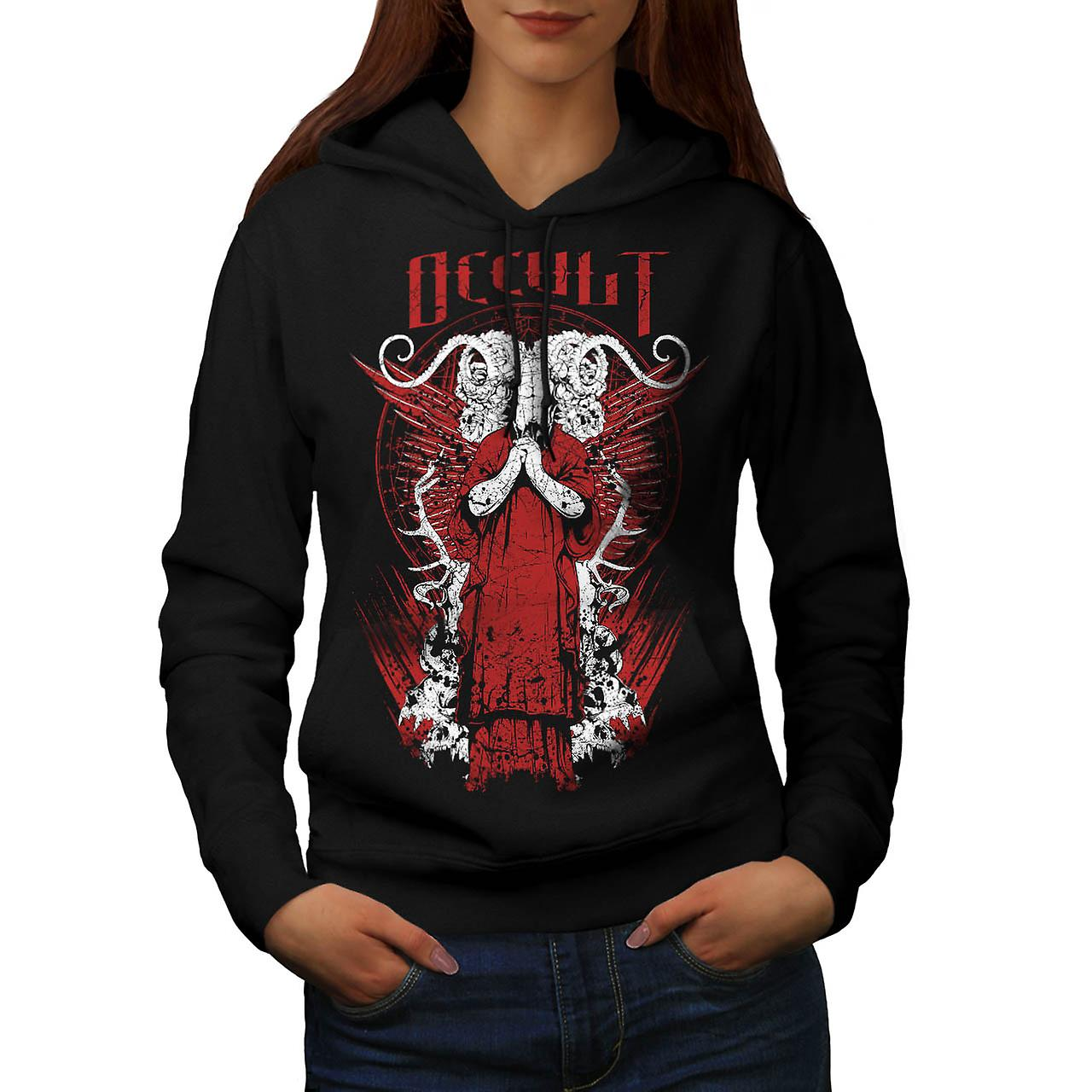 Occult Death Robe Horror Goat Women Black Hoodie | Wellcoda