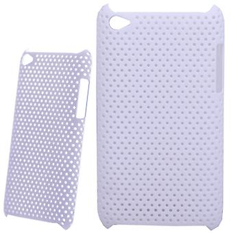Perforated and ventilated plastic cover-iPod touch 4 (white)