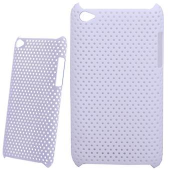 Perforert og ventilert plast cover-iPod touch 4 (hvit)